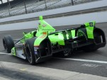 James Hinchcliffe leaves the pits at Indianapolis - Anne Profit photo