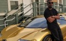 Jamie Foxx and his golden Bugatti Veyron