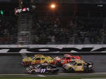Jamie McMurray pushed Kurt Busch to victory in the Budweiser Shootout Photo courtesy NASCAR