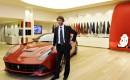 Jamiroquai lead singer Jay Kay at Ferrari's headquarters in Maranello, Italy
