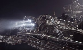 Jay Leno and Jeff Dunham drive rolling kinetic art