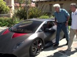 Jay Leno and Maurizio Reggiani discuss the Lamborghini Sesto Elemento