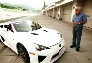 Jay Leno and the only Lexus LFA Spyder ever produced