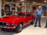 Jay Leno checks out a 1969 Boss 429
