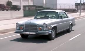 Jay Leno drives his 1971 Mercedes-Benz 280SE Coupe