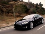 Jay Leno drives Tesla's Model S sedan