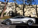 Jay Leno drives the Jaguar C-X75 Concept