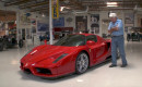 Jay Leno examines the Ferrari Enzo