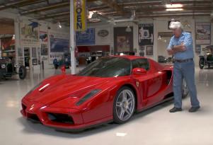 Jay Leno examines the Ferrari Enzo