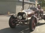 Jay Leno in a custom 1915 American LaFrance fire truck