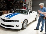 Jay Leno inspects the 2011 Hennessey HPE600 Camaro Convertible