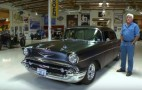 Jay Leno takes a spin in a father-son built '57 Chevy hot rod
