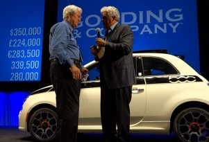 Jay Leno thanks the winning bidder for his generosity