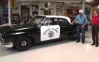 Jay Leno looks for perps in '61 Dodge Polara police car