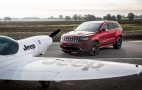 Jeep Grand Cherokee SRT battles plane in a hot lap