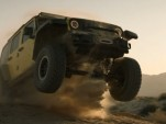Jeep Wrangler Rubicon blasts through the Baja desert