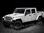 2019 Jeep Wrangler pickup rendering by JL Wrangler Forums