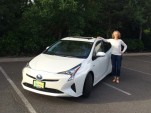Jen Smith with her new 2016 Toyota Prius Four