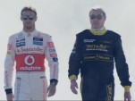 Jenson Button and Mika Häkkinen