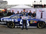 Jimmie Johnson, Martinsville winner from pole position - image: Hendrick Motorsports