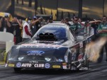 John Force in action at Pomona last weekend - Anne Proffit photo