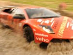 Jon Olsson's Lamborghini crossing water after Gumball 3000