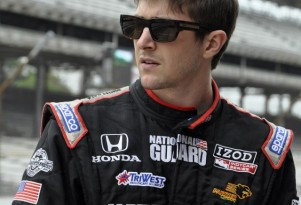 JR Hildebrand at the Indianapolis 500 - Anne Proffit photo