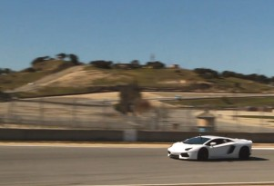 Justice Reed runs his Lamborghini Aventador at Laguna Seca