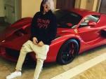Justin Bieber poses with Lewis Hamilton's LaFerrari - Image via Justin Bieber Instagram
