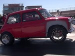 K-Series-swapped classic Mini pulls wheelies at the drag strip