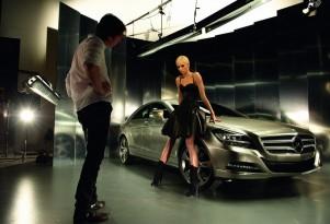 Karolina Kurkova and the Mercedes-Benz CLS
