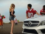 Kate Upton and the Mercedes-Benz CLA car wash for the 2013 Super Bowl ad
