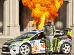 Ken Block is working on Gymkhana FOUR. Now with added fire.