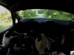 Ken Block tears through practice for the 2012 Rally Finland