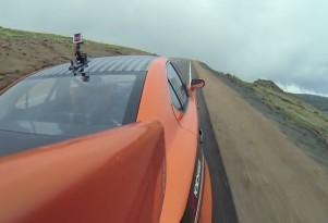 Ken Gushi drives the Lexus IS F CCS-R at the 2013 Pikes Peak International Hill Climb