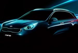 Kia Niro 'Hybrid Utility Vehicle' First Photos Revealed At Detroit Auto Show