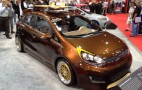 2012 Kia Rio Retro Surf, Forte Hockey By Antenna: 2011 SEMA Live Photos
