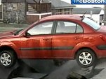 Kia Rio trapped in New Hampshire sinkhole