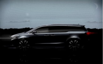2015 Kia Sedona Minivan Teased Again: 2014 New York Auto Show