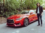Kit Harington (aka Jon Snow) and the 2017 Infiniti Q60