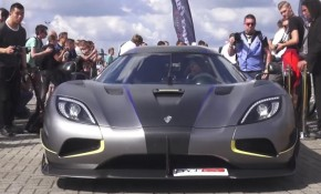Koenigsegg Agera RS Prototype spotted at a supercar event in Europe