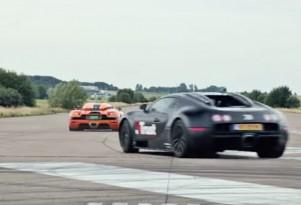 Koenigsegg CCXR and a Bugatti Veyron