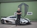 Christian von Koenigsegg and the Koenigsegg One:1