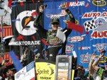 Kyle Busch celebrates in Fontana - image: Kyle Busch Motorsports