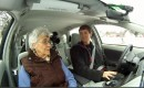 Kyle Thibaut and his grandmother in 2012 Toyota Prius Plug-In Hybrid (CrunchGear TV)