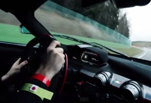 LaFerrari at Spa in the Wet