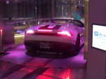 Lamborghini at Porsche tower in Miami
