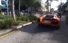 Valet Takes Lamborghini Aventador For Joyride, And Of Course It Catches Fire