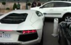 Monaco Valet Rams Lamborghini Aventador Into Passing RAV4: Video