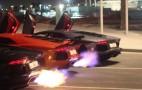 Trio of Lamborghini Aventadors Throw Down In Flame Off: Video